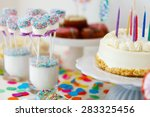 cake  candies  marshmallows ... | Shutterstock . vector #283325456