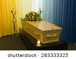a coffin with a flower... | Shutterstock . vector #283333325