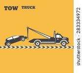 tow truck emblem. wrecker icon. ... | Shutterstock .eps vector #283334972