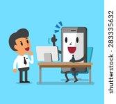business concept cartoon...   Shutterstock .eps vector #283335632