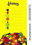 vitamin 4 | Shutterstock .eps vector #283350872