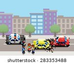 city car collision  police car... | Shutterstock .eps vector #283353488