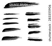 vector set of grunge brush...   Shutterstock .eps vector #283355906