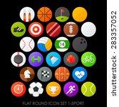 flat round icon set 1 sport | Shutterstock .eps vector #283357052