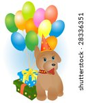 toy dog with ballons | Shutterstock .eps vector #28336351