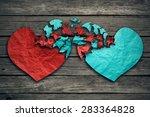 romantic relationship concept...   Shutterstock . vector #283364828