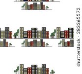 pattern of the background city... | Shutterstock . vector #283365572