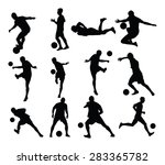 different poses of soccer... | Shutterstock .eps vector #283365782