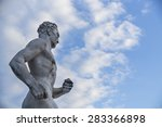 Statue Of A Runner In Stadio...
