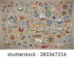 marine nautical hand drawn... | Shutterstock .eps vector #283367216