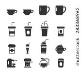 coffee icons on white... | Shutterstock .eps vector #283368962