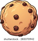chocolate chip cookie. vector... | Shutterstock .eps vector #283370942