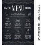 restaurant menu design. vector... | Shutterstock .eps vector #283372118