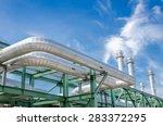 high pressure pipeline for gas... | Shutterstock . vector #283372295