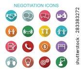 negotiation icons  flat vector... | Shutterstock .eps vector #283383272