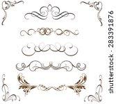ornate frames and scroll...   Shutterstock .eps vector #283391876