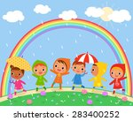 illustration of children walk... | Shutterstock .eps vector #283400252
