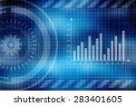 2d business graph background | Shutterstock . vector #283401605