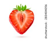 strawberry. half of a berry... | Shutterstock .eps vector #283404056