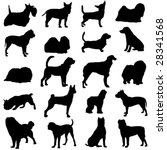 series of world famous dogs | Shutterstock .eps vector #28341568