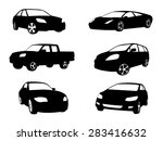 sets of silhouette cars vehicle ... | Shutterstock .eps vector #283416632