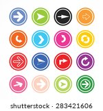 circle arrow button flat design | Shutterstock .eps vector #283421606