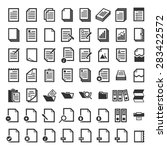 paper icon document icon vector ... | Shutterstock .eps vector #283422572