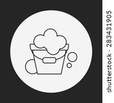 water bucket line icon   Shutterstock .eps vector #283431905