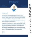 modern cover letter design with ... | Shutterstock .eps vector #283436795