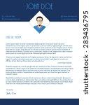 modern cover letter design with ... | Shutterstock .eps vector #283436795