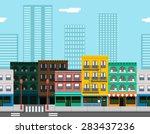seamless city street concept... | Shutterstock .eps vector #283437236