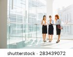 full length of businesswomen... | Shutterstock . vector #283439072