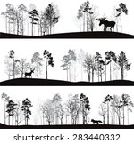 set of different landscapes...   Shutterstock .eps vector #283440332