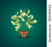 money tree. isolated object ... | Shutterstock .eps vector #283440416