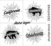 retro graphics and typography t ... | Shutterstock . vector #283445468