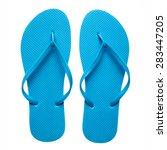Pair Of Blue Flip Flops...