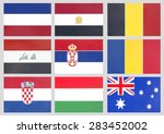 nine countries flag national...   Shutterstock . vector #283452002