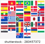 thirty eight countries flag...   Shutterstock . vector #283457372