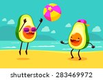 illustration of two avocados... | Shutterstock .eps vector #283469972