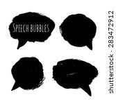 hand drawn style speech bubbles ... | Shutterstock .eps vector #283472912