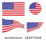 usa vector flags set | Shutterstock .eps vector #283475348