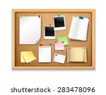 cork board with pinned paper... | Shutterstock .eps vector #283478096