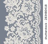 lace ribbon vertical seamless... | Shutterstock .eps vector #283480418