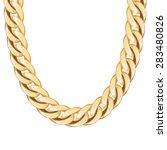 chunky chain golden metallic...