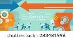 conflict management in business ...   Shutterstock .eps vector #283481996
