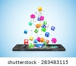 mobile application software... | Shutterstock . vector #283483115