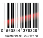 made in china  barcode scaning . | Shutterstock .eps vector #28349470