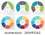 vector circle arrows... | Shutterstock .eps vector #283495262
