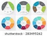 vector circle arrows... | Shutterstock .eps vector #283495262