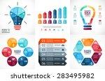 vector arrows infographics...   Shutterstock .eps vector #283495982